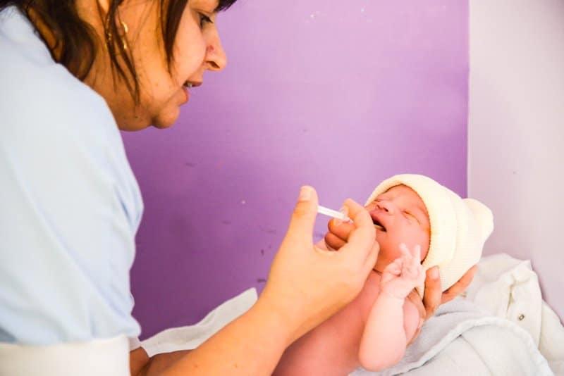 Premiers soins à la maternité de Vienne